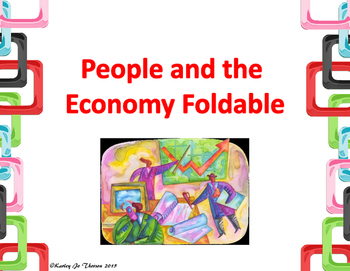 People and the Economy Foldable