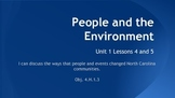 People and the Environment SS Unit 1 Lessons 4-5 (NC)