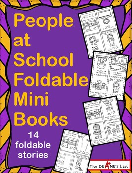 People at School Foldable Mini Books