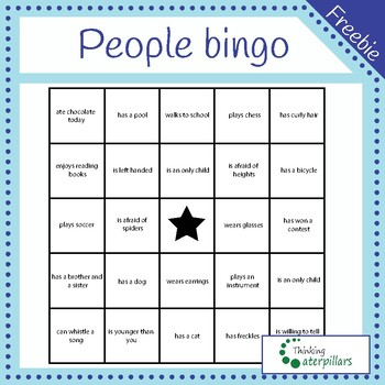 People bingo (getting to know each other)