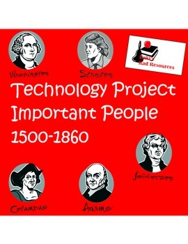 2 in 1 - People in American History from 1500 - 1860  Technology Project