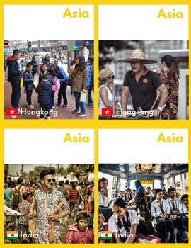 People in Asia (Montessori Cards for Continent Box)