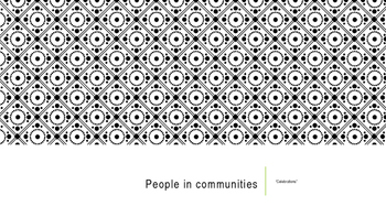 People in Communities, Chapter 2