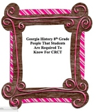 Important People In 8th Grade Georgia History: For Georgia