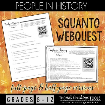 People in History Webquest: Squanto