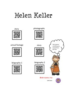 People in History using QR Codes Listening Center