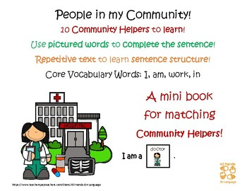 People in My Community! Interactive Mini-Book Autism Support