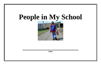 People in My School Beginning Reader