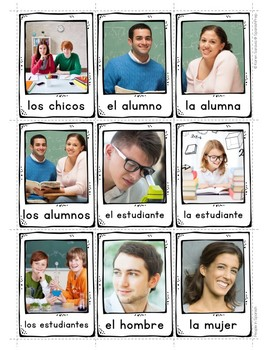 People in Spanish Vocabulary Posters & Flashcards with Real Photos