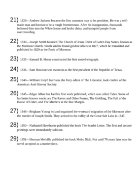 People in U.S. History Starters