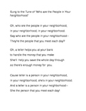 People in Your Neighborhood-Community Workers Song