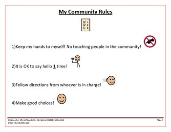 People in the Community- Social Story & Rules