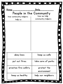 People in the Community Sort