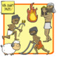 People of Ancient Civilizations Clip Art: Agriculture + Hunter-Gatherers