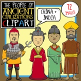 People of Ancient Civilizations Clip Art: Ancient China + India