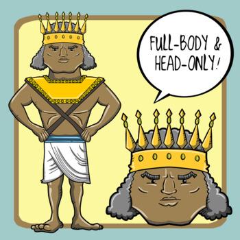 People of Ancient Civilizations Clip Art: Ancient Egypt + Kush
