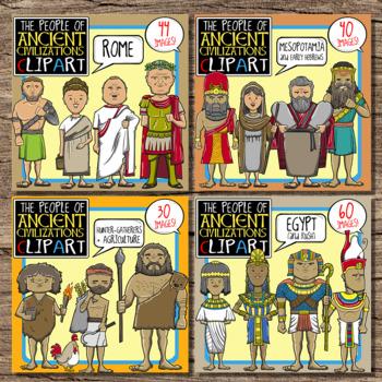 People of Ancient Civilizations Clip Art Bundle