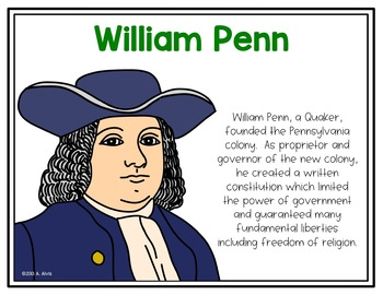 People of Colonial America Poster and Interactive Notebook INB Set