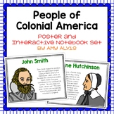 People of Colonial America Poster and Interactive Notebook