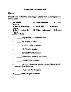 People of Congress Quiz