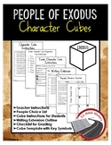 People of Exodus Character Cube Activity and Writing Extension