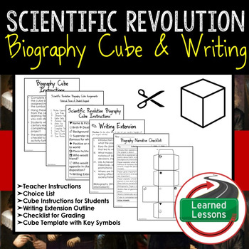 Scientific Revolution Biography Cube with Writing Extension Activity
