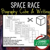 People of Space Race Activity Biography Cubes and Writing