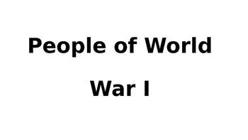 People of World War I