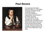 People of the American Revolution (REVISED)