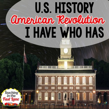 People of the American Revolution I Have Who Has?