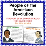 People of the American Revolution Posters and Interactive Notebook INB Set