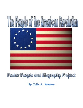 People of the American Revolution Project: Poster People, Speech, and Wax Museum