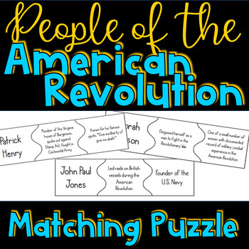 People of the American Revolution Puzzle