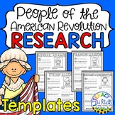 People of the American Revolution Research Project Templates for Grades 3-5