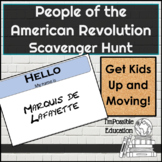 People of the American Revolution Scavenger Hunt