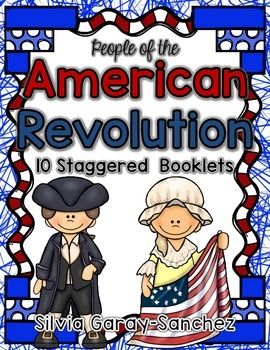 People of the American Revolution Staggered Booklets
