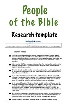 People of the Bible Research Template