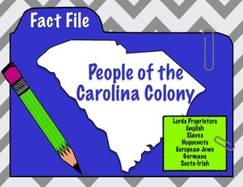 People of the Carolina Colony (South Carolina)- Fact Files