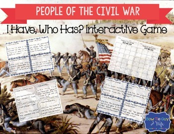 People of the Civil War Interactive Vocabulary Game