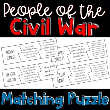 People of the Civil War: Matching Puzzle Activity