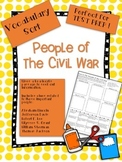 People of the Civil War Vocabulary Word Sort