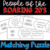 People of the Roaring 20's Puzzle Activity