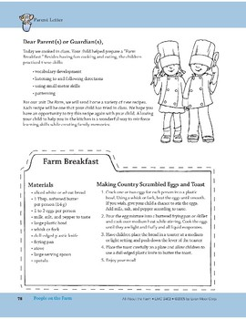 People on the Farm: Art and Cooking Activities