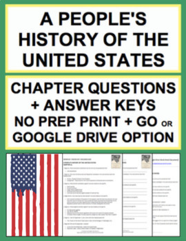 People's History of the United States Chapter Questions, Key & Google Classroom