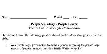 People's century - People Power The End of Soviet-Style Communism (part 25)