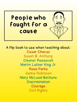 People who Fought for a Cause Flip Book