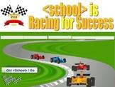 Pep Rally - Power Point - Race Car Theme - TEST Prep