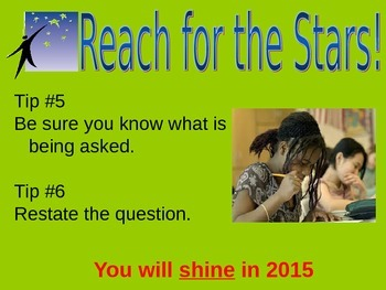 Pep Rally - Test Preperation Power Point - Reach for the Stars Theme