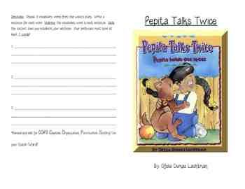 Pepita Talks Twice Activity Booklet