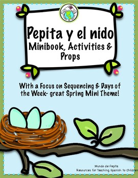 Pepita descubre un nido Spanish printable minibook
